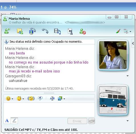 Conversa de MSN